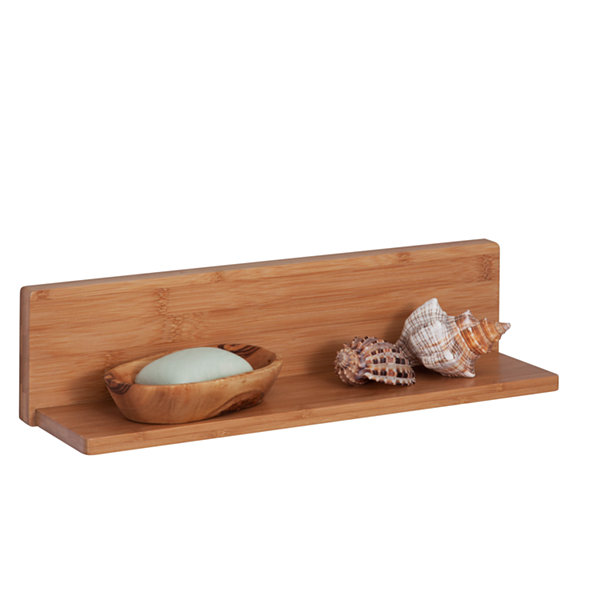Honey-Can-Do Bamboo L Shelf