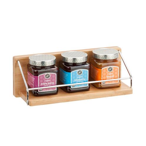 Honey-Can-Do Wall Shelf W/ Chrome Bar