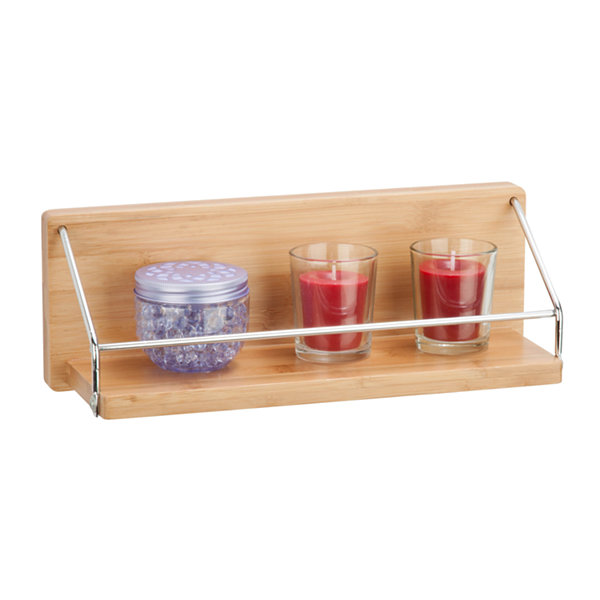 Honey-Can-Do Wall Shelf W/ Chrome Bar