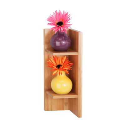 Honey-Can-Do Bamboo Sectioned Wall Shelf