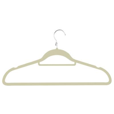 Honey-Can-Do 18-Pack Velvet Touch Cascading Suit Hanger- Black