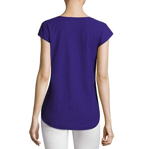Liz claiborne short sleeve v neck t shirt womens jcpenney for Liz claiborne v neck t shirts