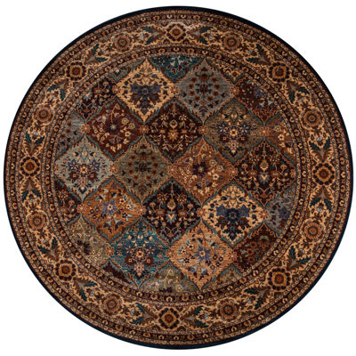 Rizzy Home Bellevue Border Round Rugs