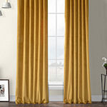Exclusive Fabrics & Furnishing Heritage Plush Velvet Energy Saving Room Darkening Rod-Pocket/Back-Tab Single Curtain Panel