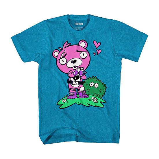 Boys Crew Neck Short Sleeve Fortnite Graphic T-Shirt - Big Kid