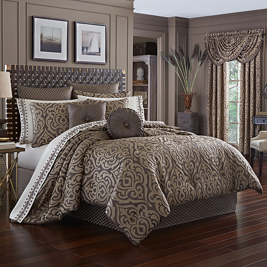 Queen Street Antonia 4-pc. Damask + Scroll Heavyweight Comforter Set