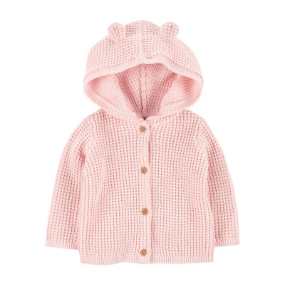 Carter's Baby Girls Hooded Neck Long Sleeve Cardigan