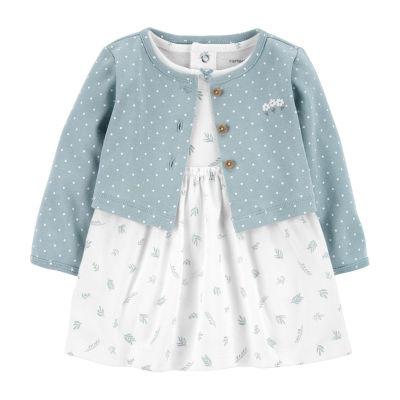 Carter's Baby Girls Long Sleeve 2-pc. Dress Set