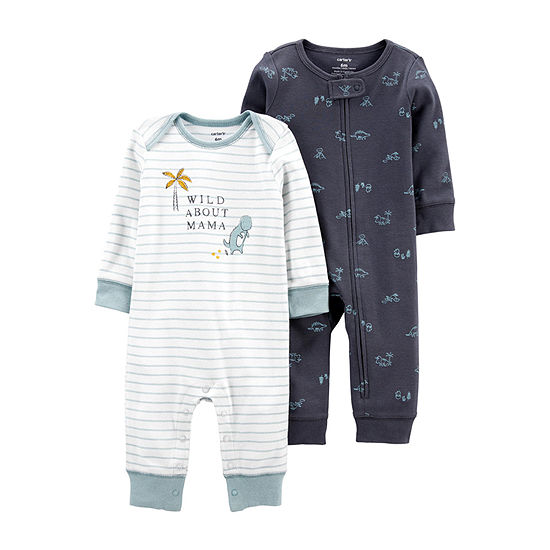Carter's Baby Boys Long Sleeve 2-pc. Jumpsuit