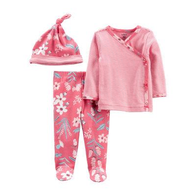 Carter's Baby Girls 3-pc. Pant Pajama Set