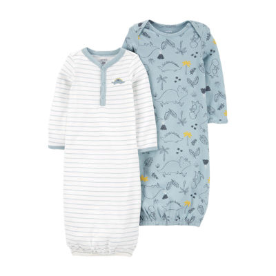 Carter's Baby Boys 2-pc. Long Sleeve Round Neck Nightgown