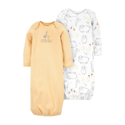 Carter's Baby Unisex 2-pc. Long Sleeve Round Neck Nightgown