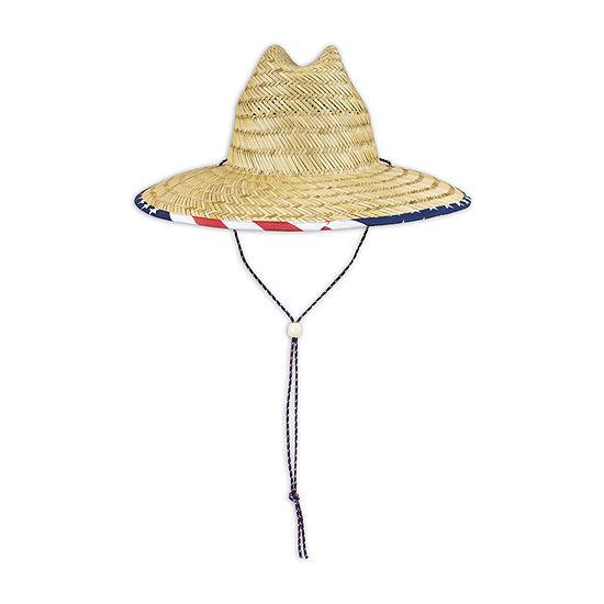 Wembley Americana Lifeguard Flag  Brim Unisex Adult Panama Hat