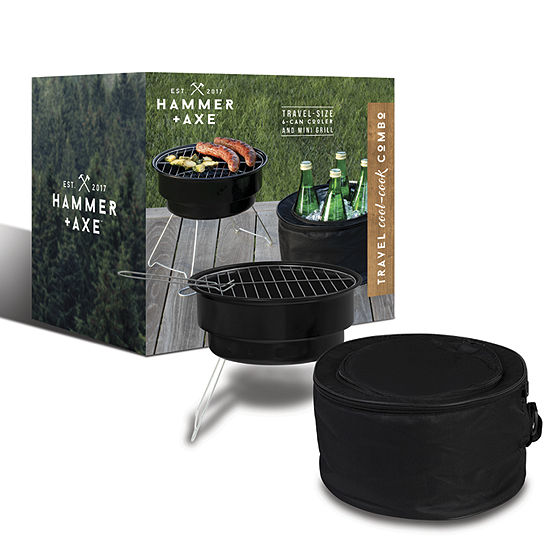 Hammer Axe 6 Can Cooler And Mini Charcoal Grill