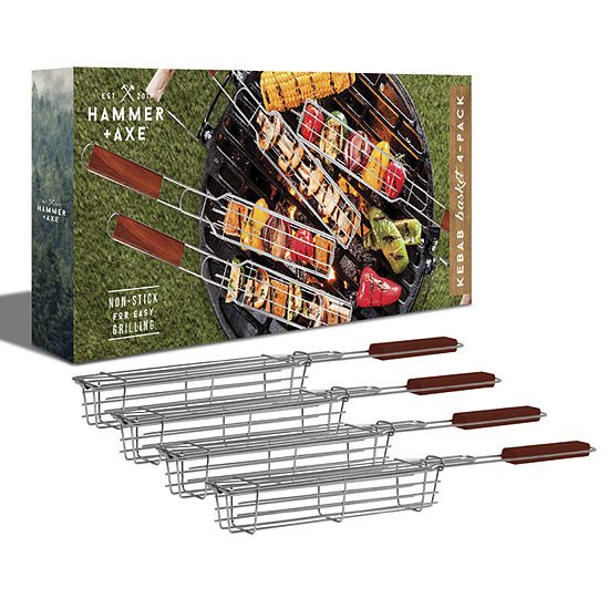Hammer + Axe 4 Pack Kebab Grill Baskets