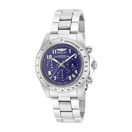 Invicta Speedway Mens Chronograph Silver Tone Stainless Steel Bracelet Watch 17024