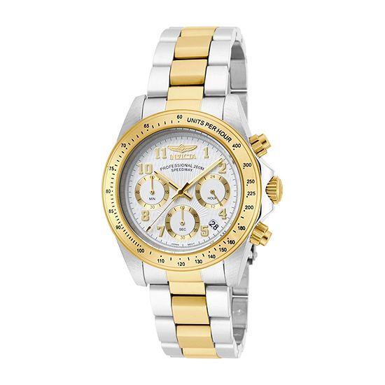 Invicta Speedway Mens Chronograph Two Tone Stainless Steel Bracelet Watch 17026