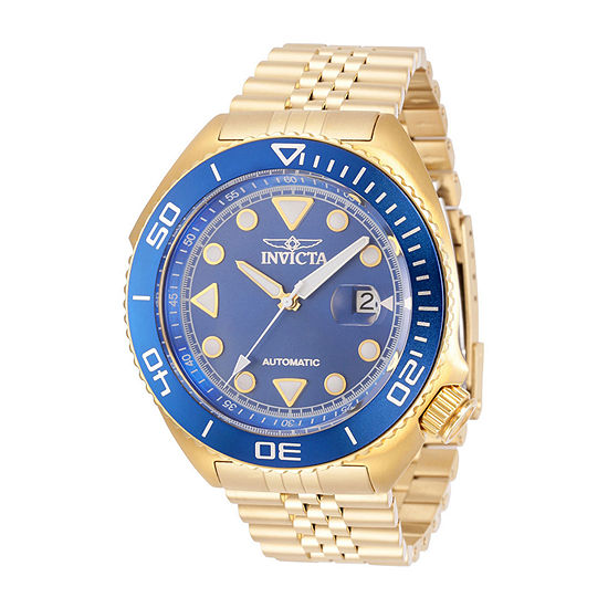 Invicta Pro Diver Mens Automatic Gold Tone Stainless Steel Bracelet Watch 30420