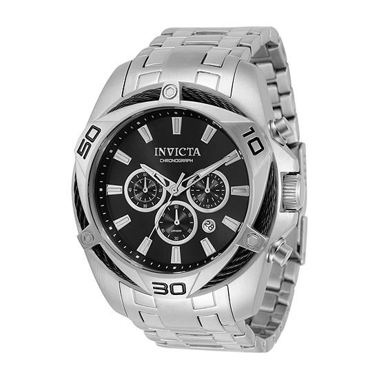 Invicta Bolt Mens Chronograph Silver Tone Stainless Steel Bracelet Watch 32372