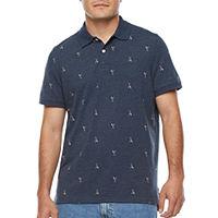St. Johns Bay Premium Stretch Mens Short Sleeve Polo Shirt Deals