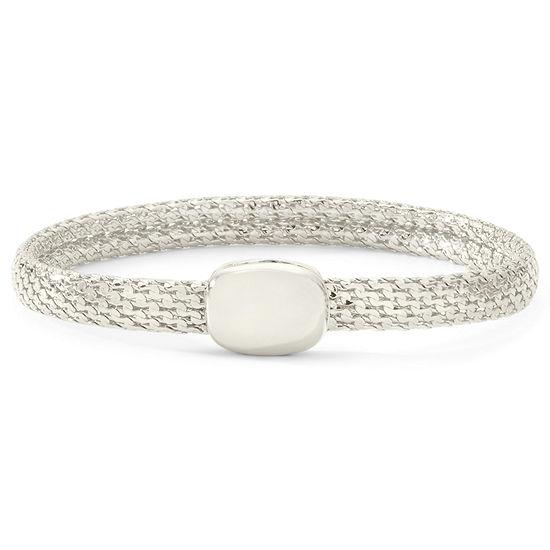 Monet® Silver-Tone Magnetic Closure Bracelet