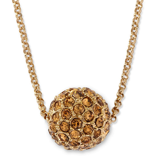 Monet® Gold-Tone Fireball Pendant Necklace