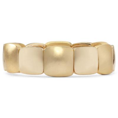 Liz Claiborne® Gold-Tone Square Stretch Bracelet