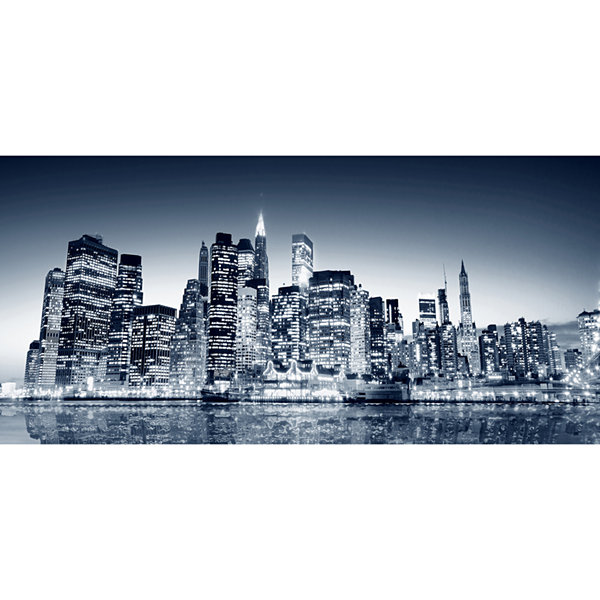 Set of 3 Night View Mega Panoramic Wall Decal