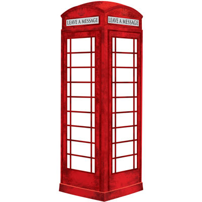 London Phone Booth Giant Dry-Erase Wall Decal
