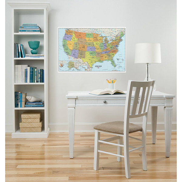 USA Map Dry-Erase Wall Decal