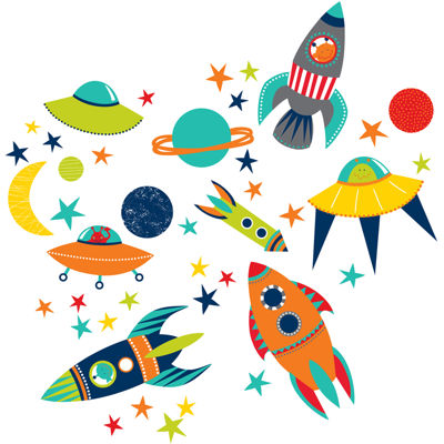 Blast Off Wall Decals