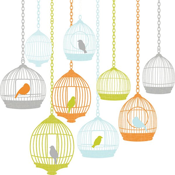 St. Tropez Large Birdcage Wall Decals