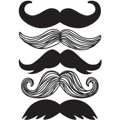 Small Mustache Wall Decals
