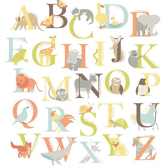 Alphabet Zoo Wall Decals
