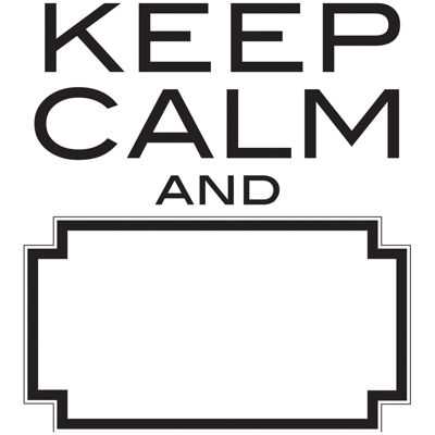 Keep Calm Dry-Erase Wall Decal