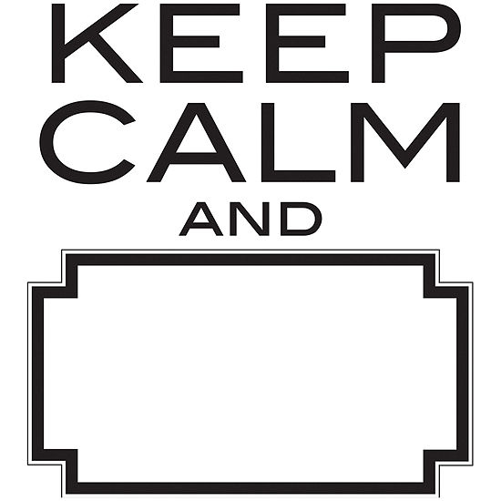 Keep Calm Dry Erase Wall Decal