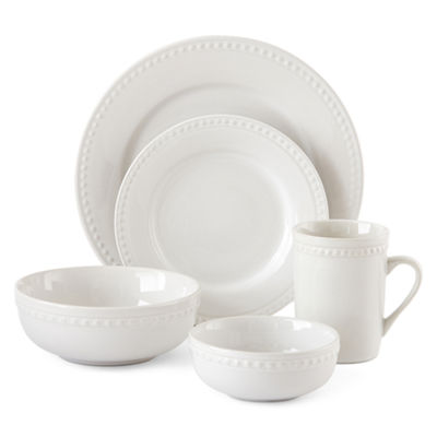 JCPenney Home™ Beaded 40-pc. Dinnerware Set - Service for 8