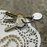 Personalized Oval Silvertone Key Ring