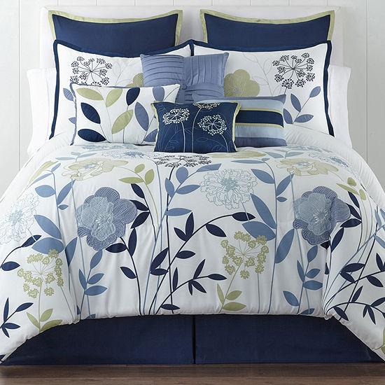 Home Expressions™ Delia Modern Floral 10-pc. Comforter Set