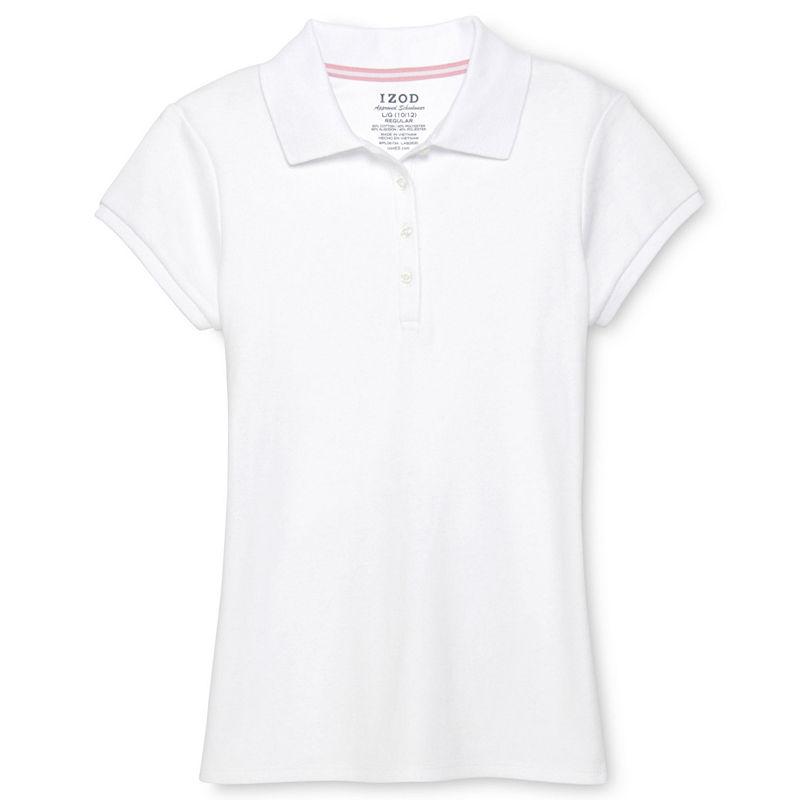 IZOD Fashion Polo Shirt - Girls 7-18 and Plus plus size,  plus size fashion plus size appare
