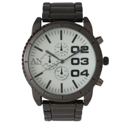 Olivia Pratt Mens White Dial Gunmetal Bracelet Watch 2197Ggunmetal