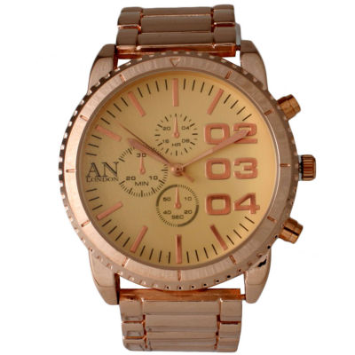Olivia Pratt Mens Gold Dial Rose Gold Bracelet Watch 2197Grose