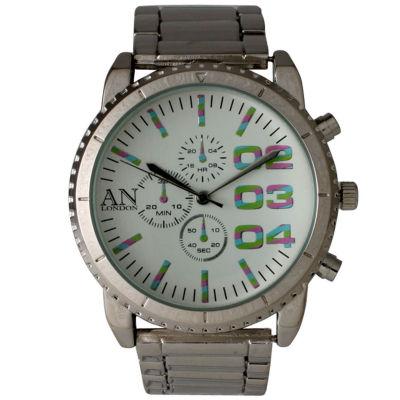 Olivia Pratt Mens White Dial Silver-Tone Bracelet Watch 2197Gsilvermulti