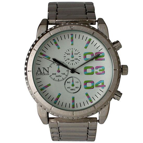 Olivia Pratt Mens White Dial Silver Tone Bracelet Watch 2197gsilvermulti