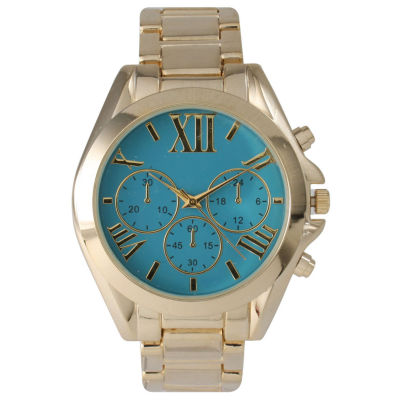 Olivia Pratt Mens Blue Dial Goldtone Bracelet Watch 14331Blue