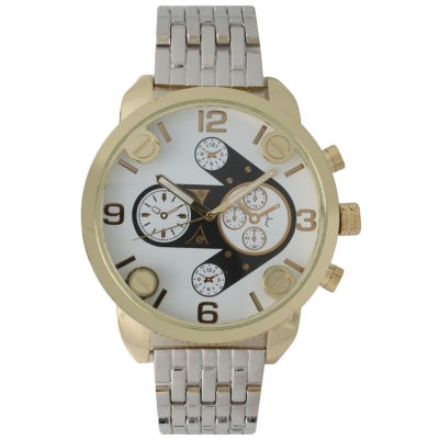 Olivia Pratt Mens Gold Bezel Silver Bracelet Watch 15276Gold & Silver Two Tone