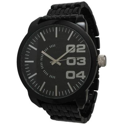 Olivia Pratt Mens Black Basket Link Bracelet Watch 15278Black