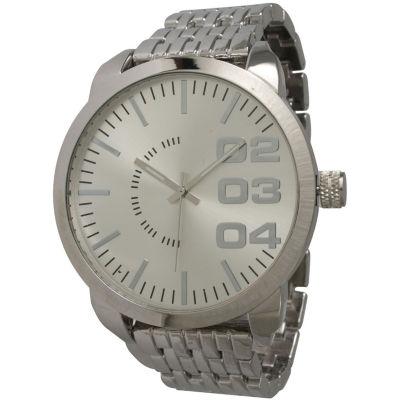 Olivia Pratt Mens Silver Basket Link Bracelet Watch 15278Silver