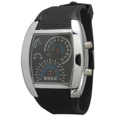 Olivia Pratt Mens Black Silicone Digital Watch 8144Black