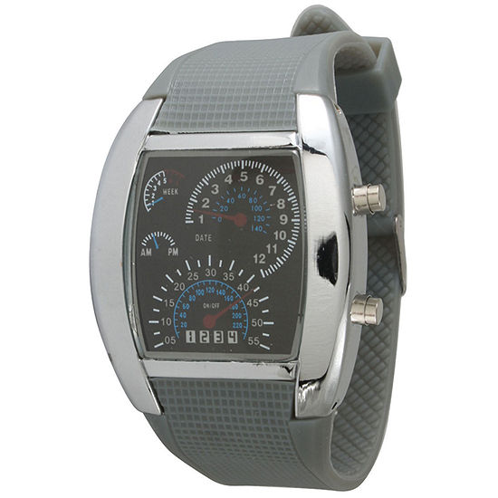 Olivia Pratt Mens Grey Silicone Digital Watch 8144Grey